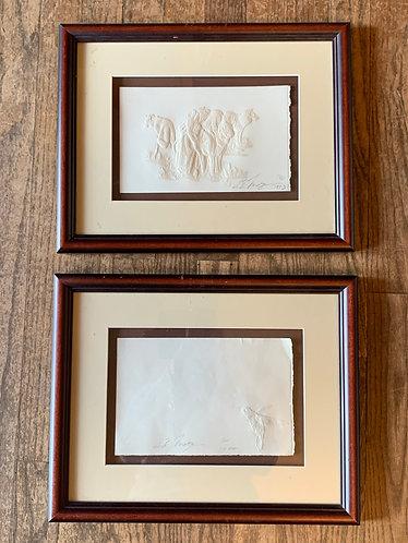 Ed Morgan Set of 2 Framed Artwork