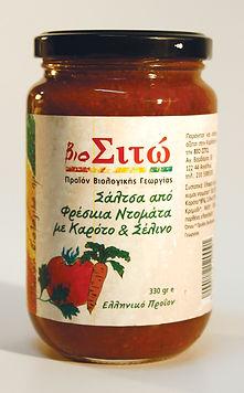 βιολογικά προϊόντα, ντομάτα, σάλτσα, σέλινο, καρότο,φρέσκια