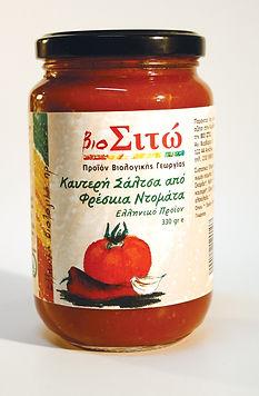 βιολογικά προϊόντα, ντομάτα, σάλτσα,καυτερή,φρέσκια