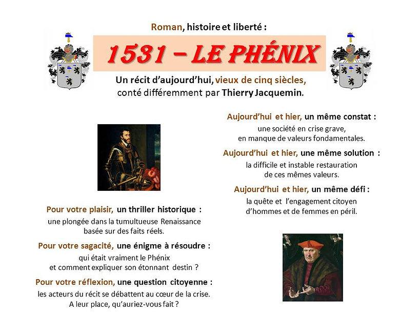 Portraits de Charles-Quint et d'Erard de la k, roman 1531 - Le Phénix