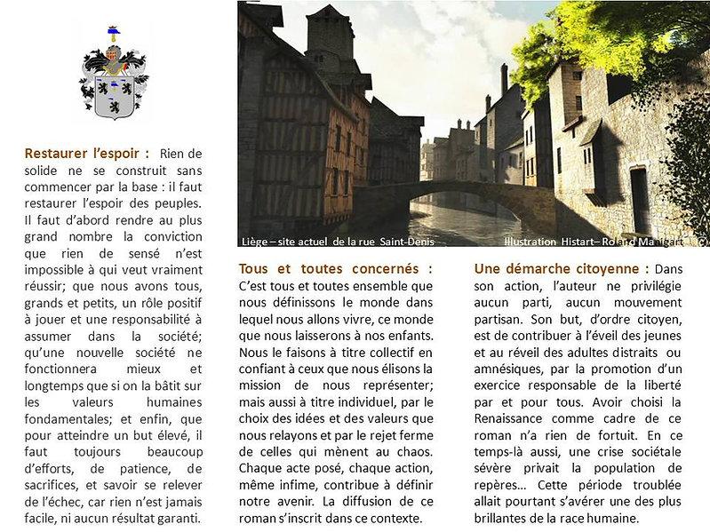 Démarche citoyenne + Image de Liège, rue Saint-Denis, au XVIe siècle