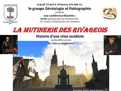 La mutinerie des Rivageois, conférence de Thierry Jacquemin