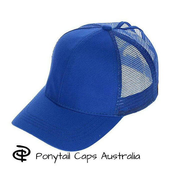 Royal Blue Ponytail Cap
