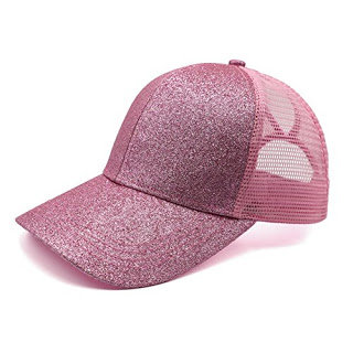 Fairy Floss Glitter Ponytail Cap