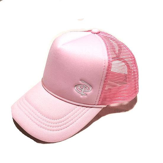 Pink Trucker Ponytail Cap