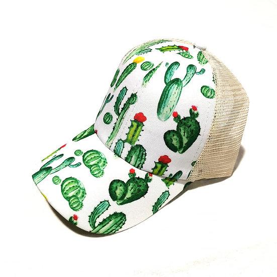 Cowgirl Ponytail Cap - Cactus