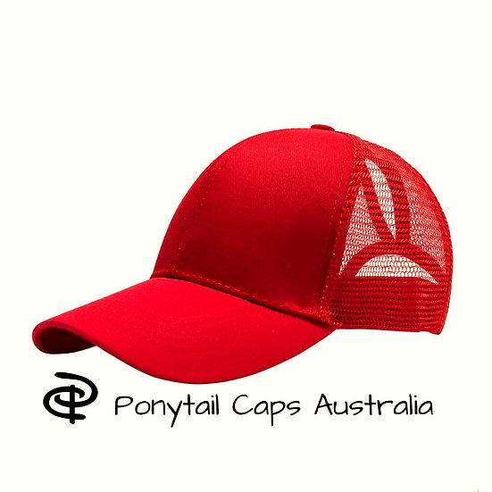 Red Ponytail Cap
