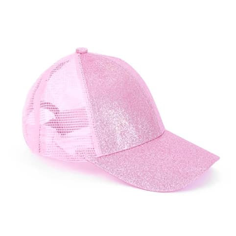 Youth Glitter Ponytail Cap - Fairy Floss