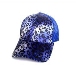 Royal Leopard Ponytail Cap
