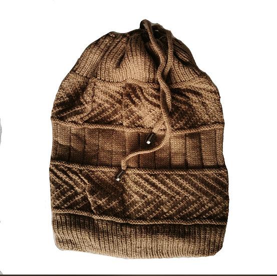 Ponytail Beanie /scarf - Latte