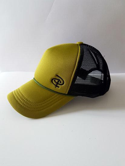Olive/Black Trucker Ponytail Cap