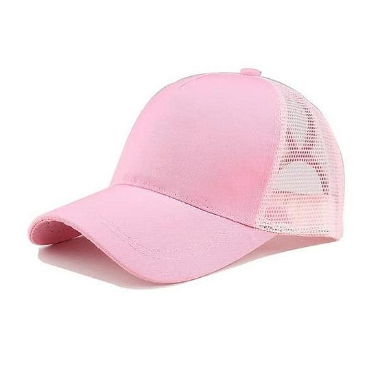 Baby Pink Ponytail Cap