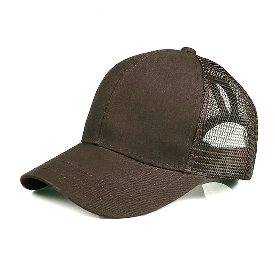 Chocolate Ponytail Cap