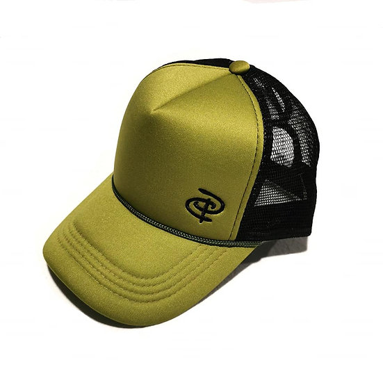 Olive/Black Trucker Ponytail Cap