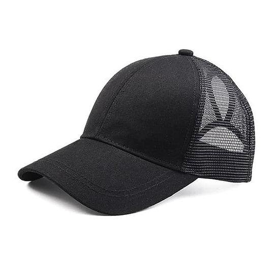 Black Ponytail Cap