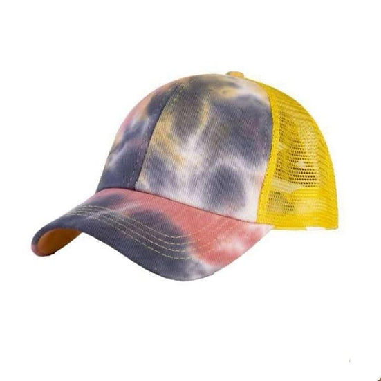 Tie Dye Ponytail Cap 'MellowYellow'
