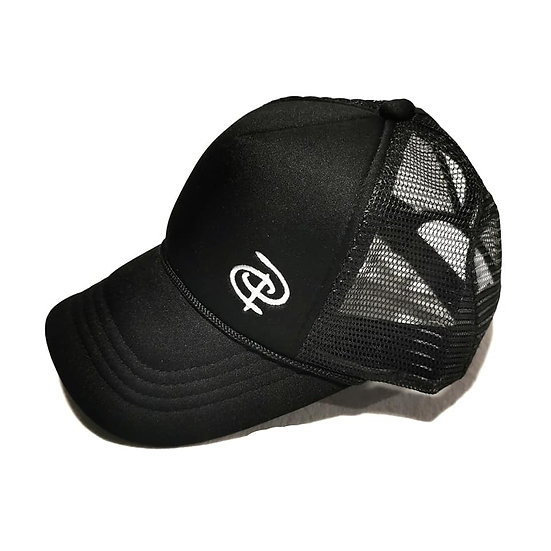 Black Youth Trucker Ponytail Cap