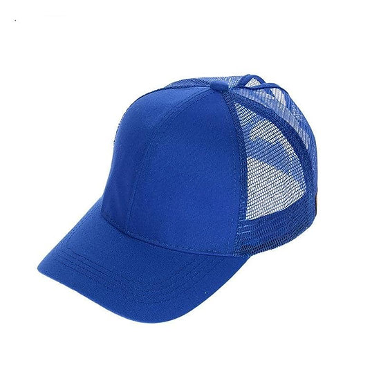 Royal Blue Ponytail Cap