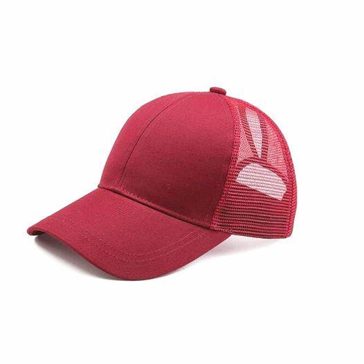 Wine Ponytail Cap
