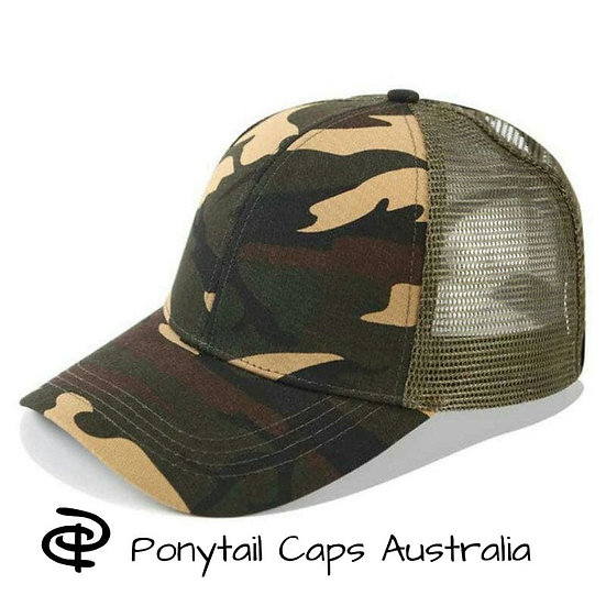 Camo Ponytail Cap