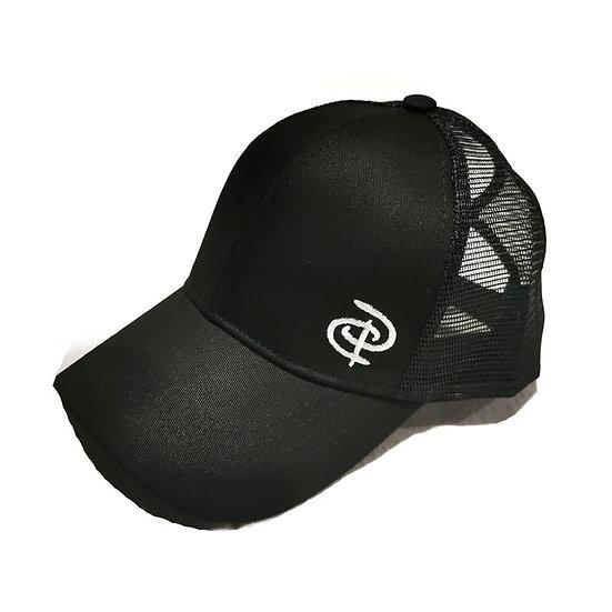 LUXE Black Ponytail Cap