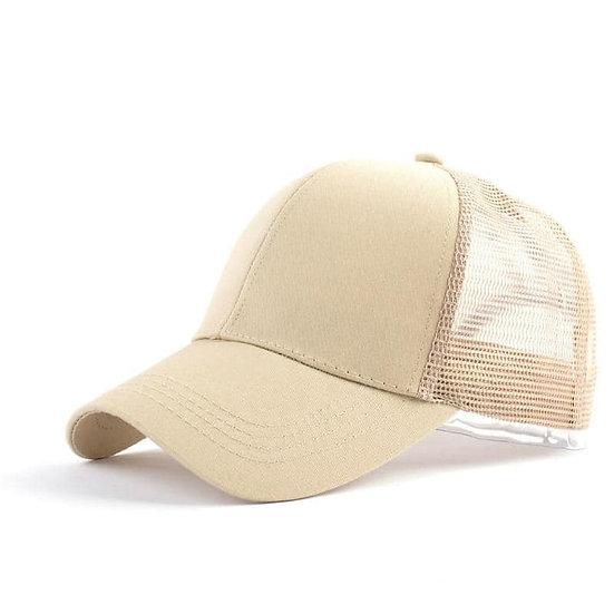 Beige Ponytail Cap