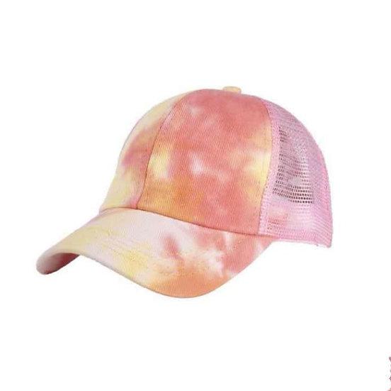 Tie Dye Ponytail Cap Mango