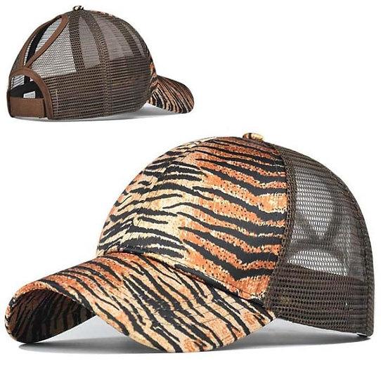 Tiger Ponytail Cap