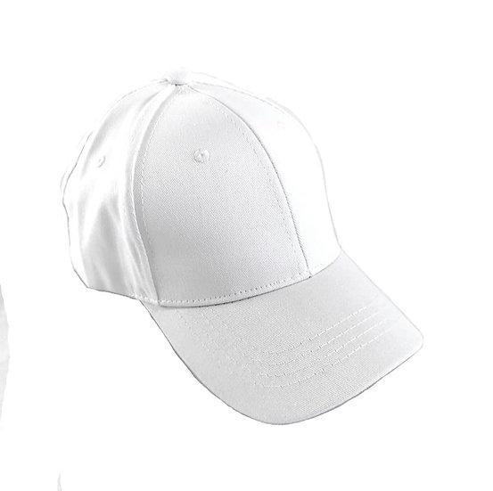 Essential White full Cover Ponytail Cap