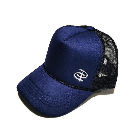 Navy Trucker Ponytail Cap