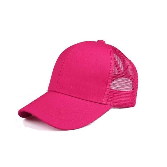 Fuschia Ponytail Cap