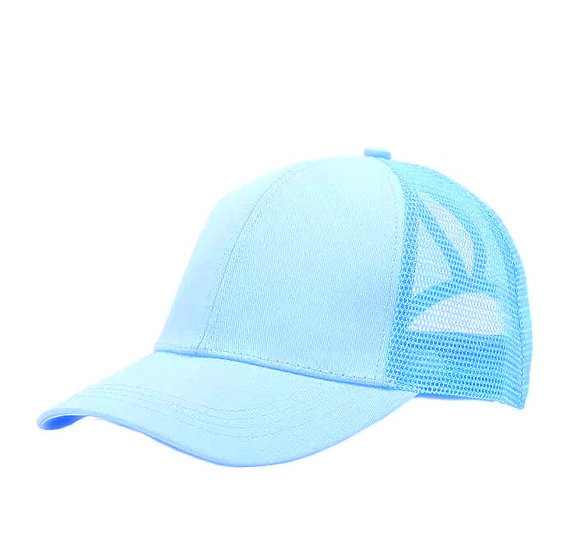 Baby Blue Ponytail Cap