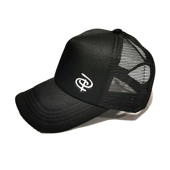 New Black Adult Trucker Ponytail Cap