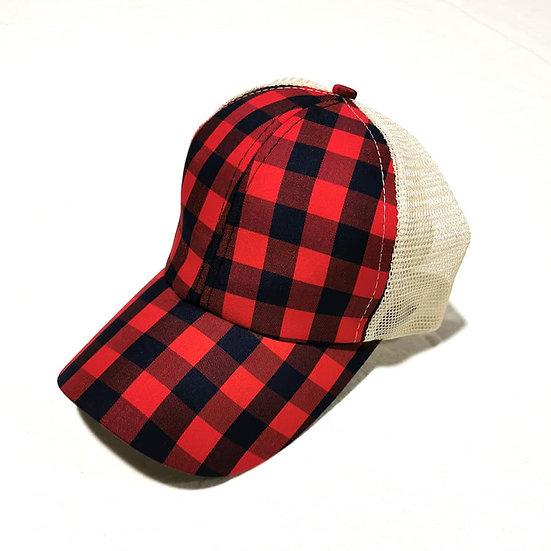 Cowgirl Ponytail Cap - Lumberjack
