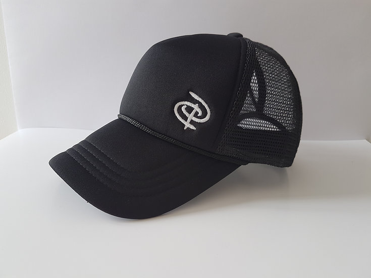 Black Youth Trucker Ponytail Cap