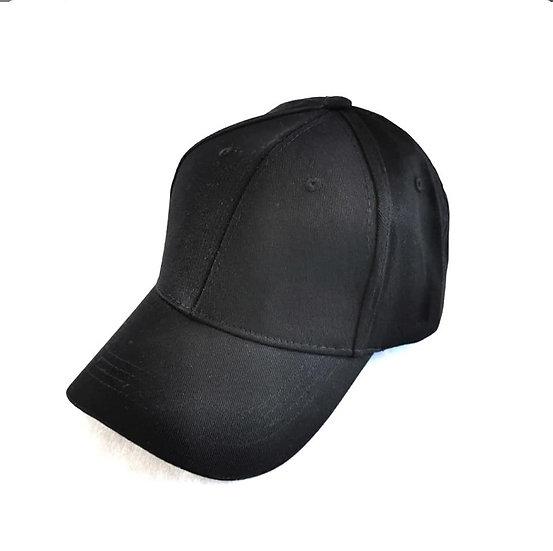 Essential Black Full Cover Ponytail Cap