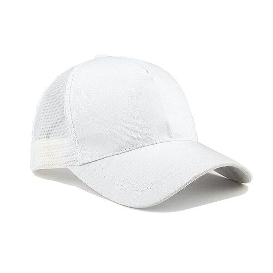 White Ponytail Cap