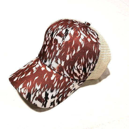 Cowgirl Ponytail Cap - Appaloosa