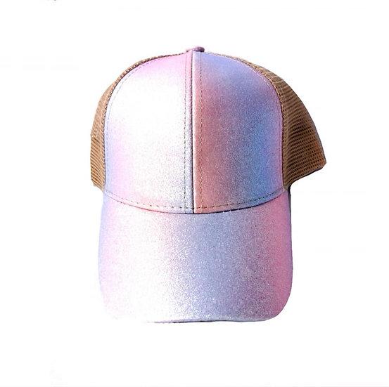 Kids Glitter Ponytail Cap - Unicorn
