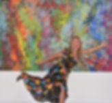 "TEMPTATION 60"" x 96"" artist Martine Bachelart"
