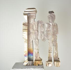 TRUST sculpture bronze artist Martine Bachelart