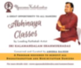 Abhinaya Classes at Upasana Kalakendra