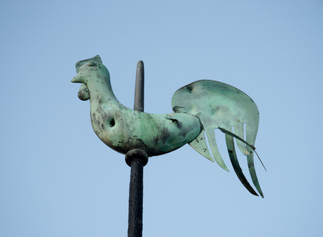 Bullet holes in the weather vane?