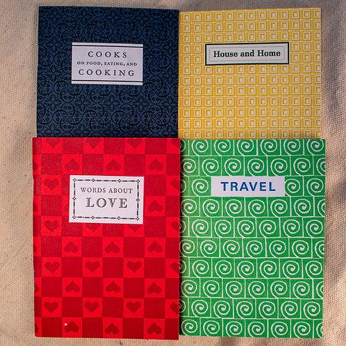 Set of 4 Wee Letterpress Books
