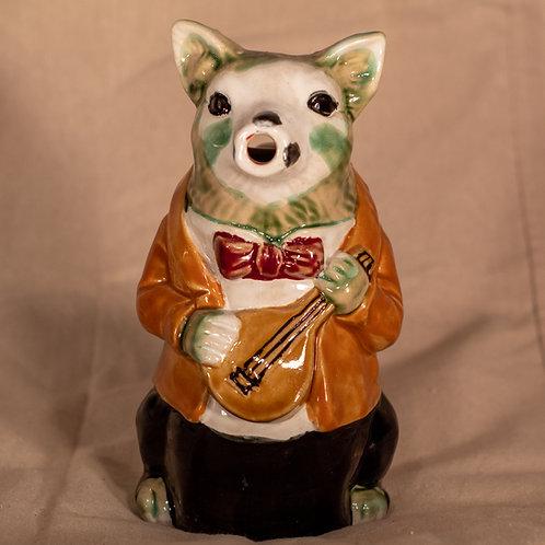 Antique Majolica Pig Vase