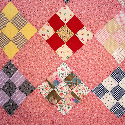 American Depression-Era Farm Quilt
