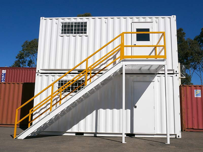 TWO STOREY CONTAINER WORKSITE COMBO