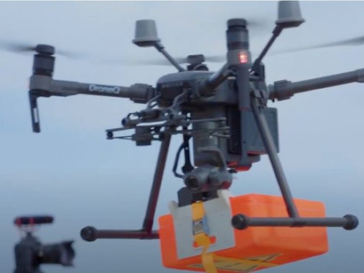 Drone trial lifts off to supply ships at Rotterdam port