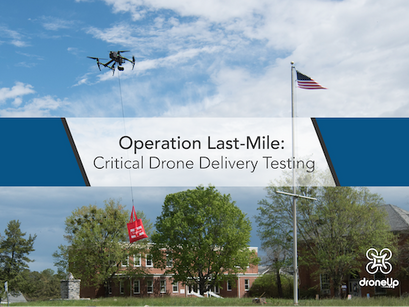 DroneUp partners with Virginia's CIT for last-mile critical drone delivery trials