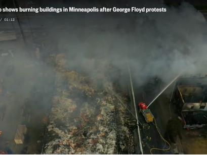 Новости NBC: видео с беспилотника показывает разрушение в Миннеаполиса после протестов